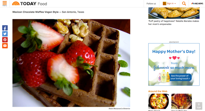 a recipe featured on Today.com  May 2015