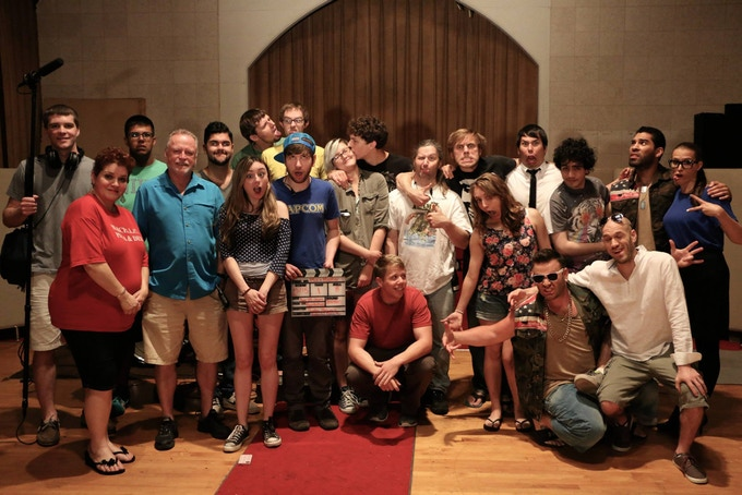 Cast and crew on the set of the Mix & Master pilot.