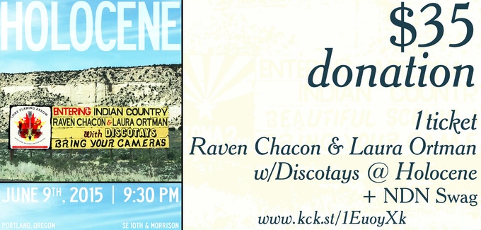 Raven & Laura will perform a special set that will captivate you & wreck you simultaneously. Discotays will open the show & have been adored by Kathleen Hanna for their queercore post-punk music. Bring a date and get your Indigenous lovin' on!