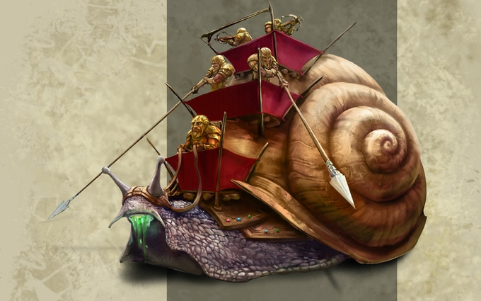 War Snails are the most feared of the dwarven mounts.