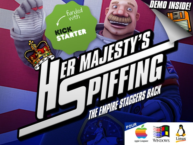 Her Majesty the Queen of England kindly seeks one's assistance in this intergalactic point and click adventure game.