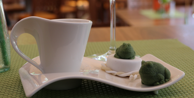 """Printed Marzipan Frog on cookie as """"Kiss the Frog"""""""