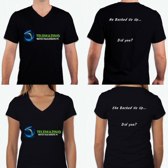 Tentative Telemazing Shirt Designs