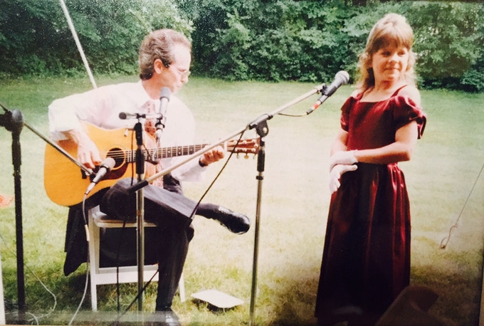 My first live gig with my dad, singing Eric Clapton's Let It Grow.