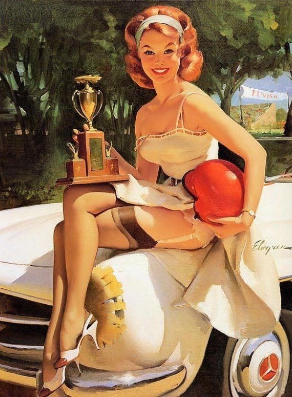Fast Lass by Gil Elvgren. Courtesy Lou Meisel, Great American Pin Up.