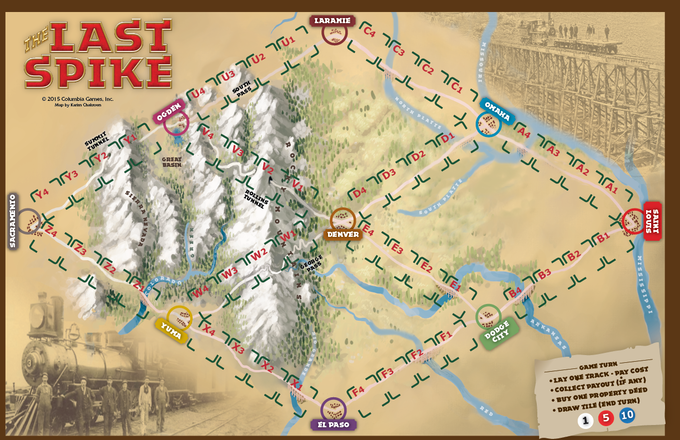 Last Spike Gameboard (click to enlarge the map in a new window)