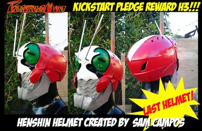 New reward.  Last Henshin Helmet H3!