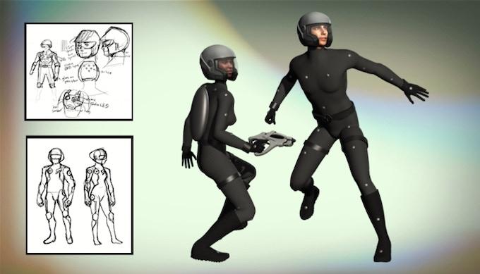 Contestant VR suits