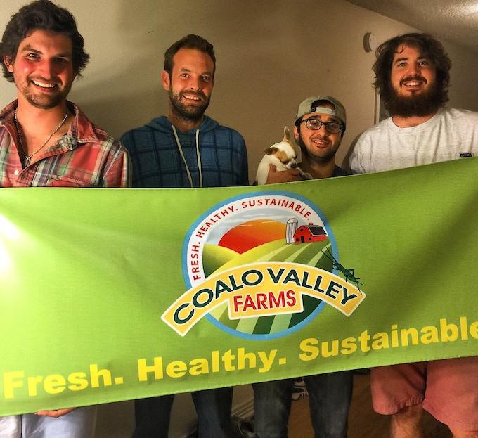 Meet The Team! (From left: Elliot Mermel, Matthew Hansen, Max Cunha, Peter Markoe)