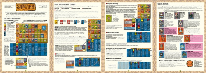 The rulebook will be English.German/French/Dutch. (4 pages) (Proof)read the English rules here. (25Mb)