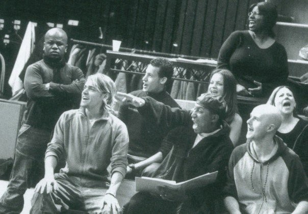 """In rehearsal with the """"Jerry Springer The Opera"""" boys and girls"""