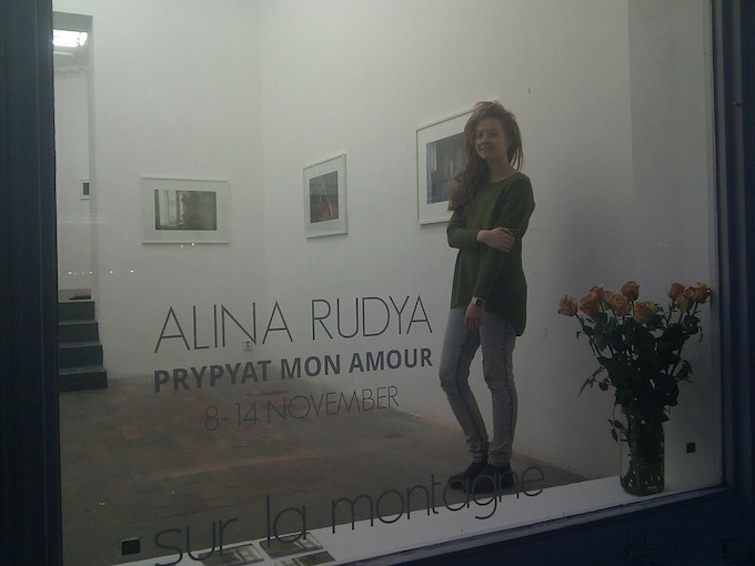 """Me at the exhibition opening of the self-portrait part of the """"Prypyat mon Amour"""""""