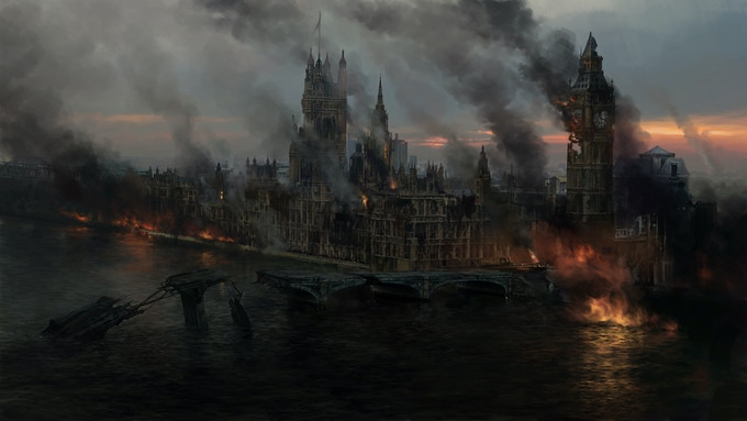 The destroyed London