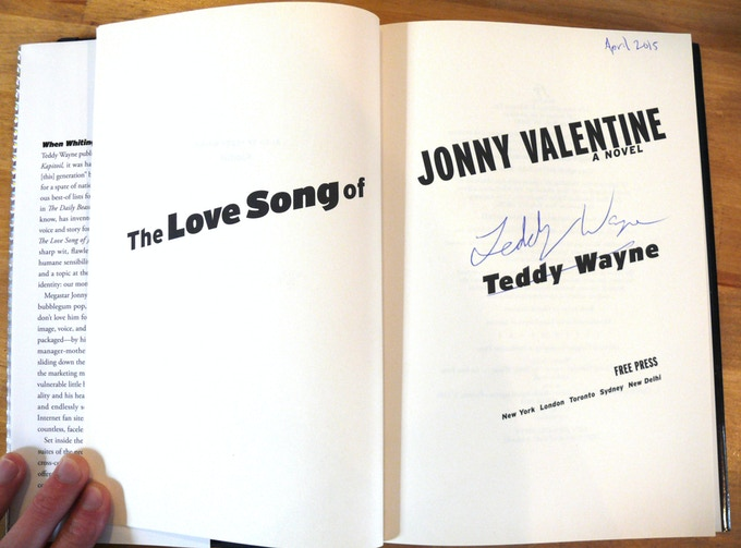 For $50: A signed copy of Tendency contributor Teddy Wayne's acclaimed novel.