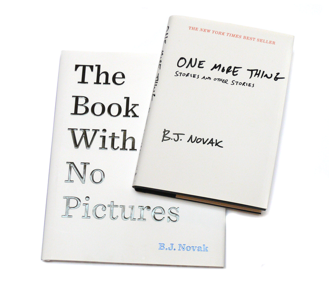 """For $65: A signed copy of these two best-sellers by BJ Novak, friend of McSweeney's and alumnus of """"The Office""""."""