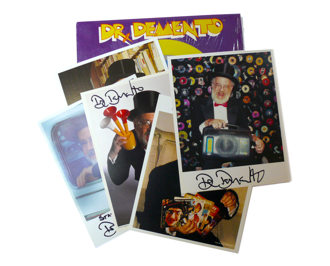 For $150: A rare signed Dr. Demento picture-disc LP, with an autographed Demento photo-pack.