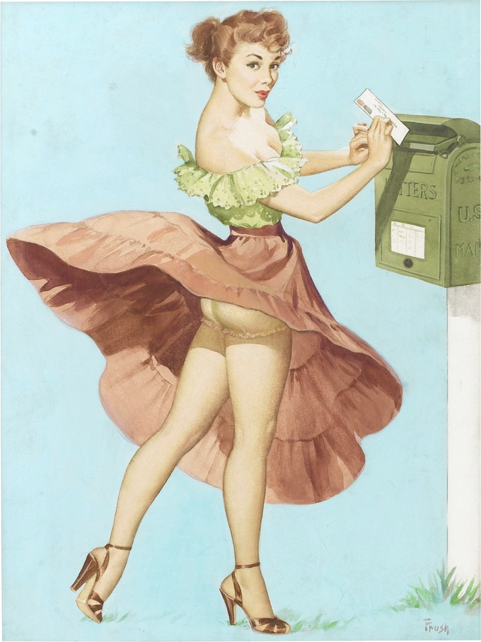 Send off for your for premiums! Pin up by Pearl Frush courtesy Lou Meisel, Great American Pin Up.