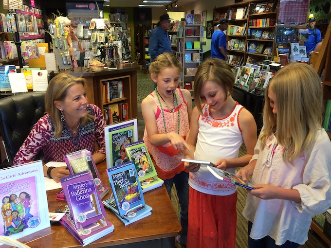 Signing books at Next Page Books in Frisco, Colorado