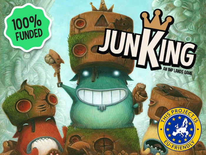 Play as a Scavenger Imp searching through the Junklands for prestigious pieces of junk!  A 2-6 Player strategy card game for all ages.