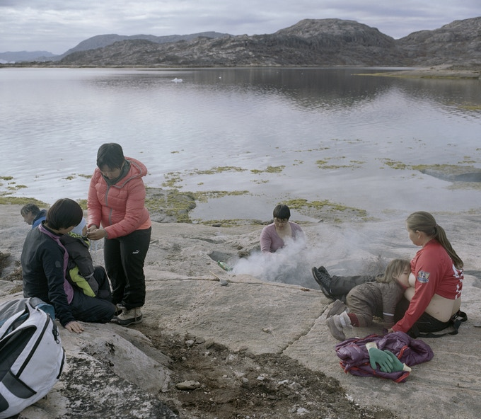 Family picnic in the wilderness, Upernavik Archipelago, 2014, Dennis Lehmann
