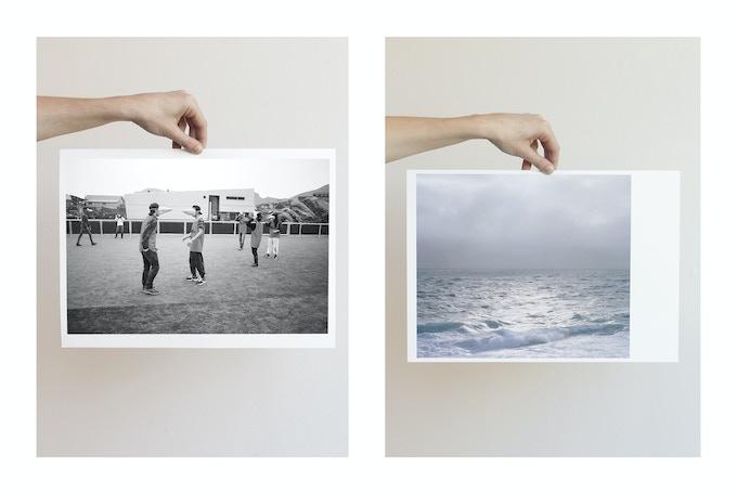 Left: Penguin soccer, Sisimiut, 2014, Lasse Bak Mejlvang. Right: The Baffin Bay, Upernavik, 2014, Dennis Lehmann
