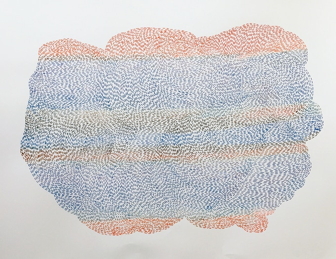 Untitled (Study for Strata, No. 5, Series A), 2014, by Emily Hermant