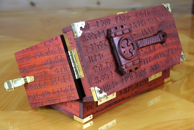Rune Case with Hammer wood sculpt