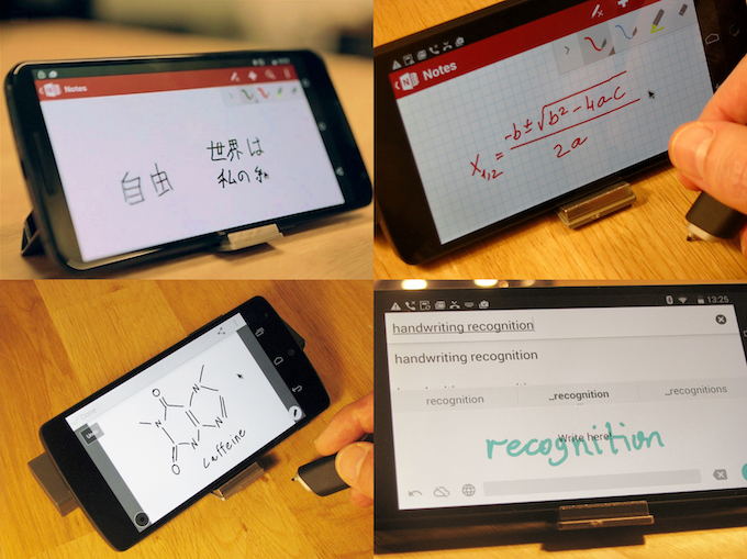 Using Phree with mobile apps: OneNote, Skitch, Google handwriting keyboard