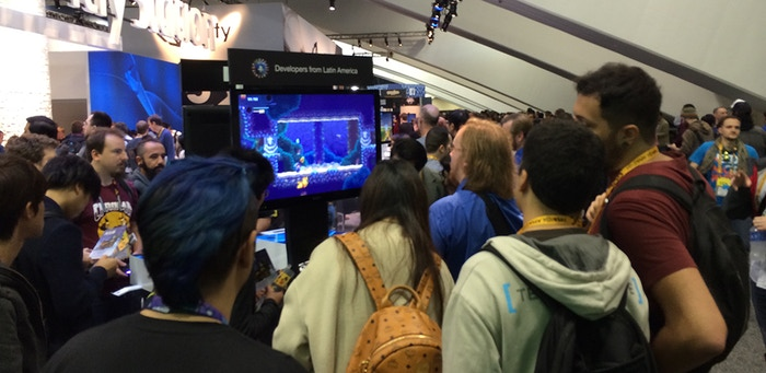 Our booth at GDC!