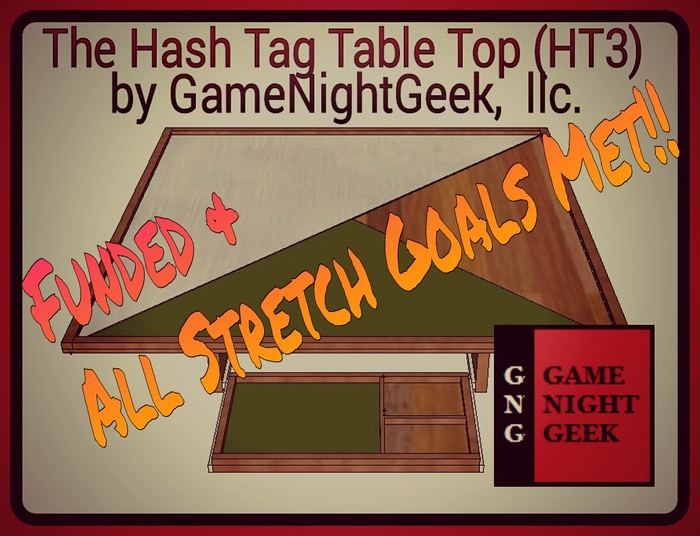 Game Night Glass Tables: Hash Tag Table Top (HT3) Prototype