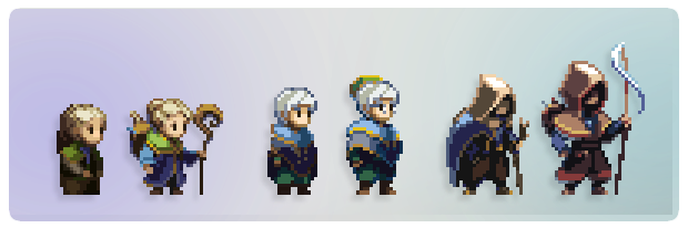A few character design updates for added personality!