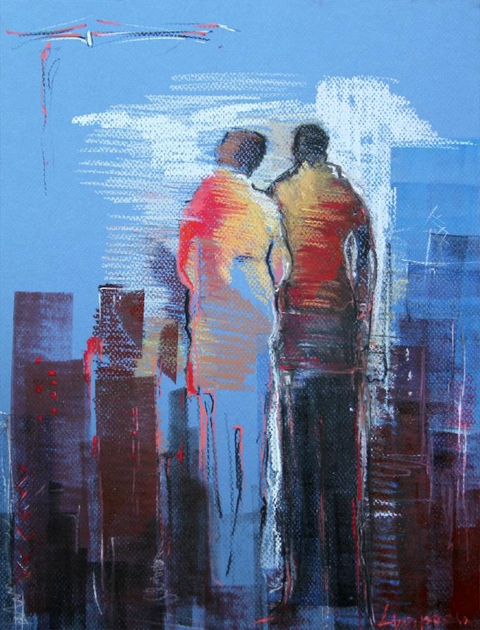 Still Together (pastel on paper, 16''x12'' - 40x30 cm)