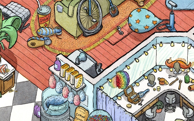 Jugsy's apartment, detail. Click for hi res view (it's 3 mb)