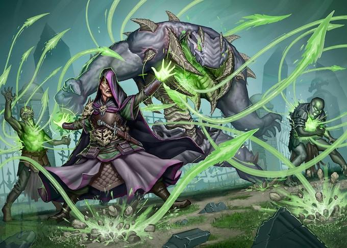 Gravestorm card art for the Necromancer Hero