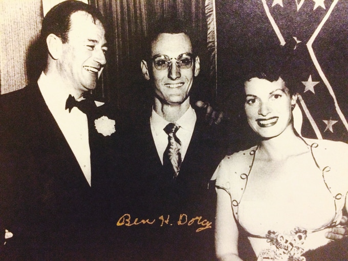 A young Ben Dorcy with John Wayne & Maureen O'Hara