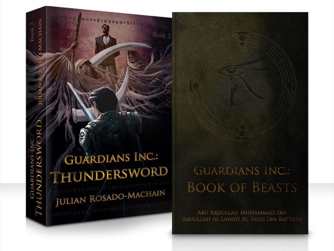 Thundersword and Book of Beasts. Click to go to Thundersword Amazon's page!