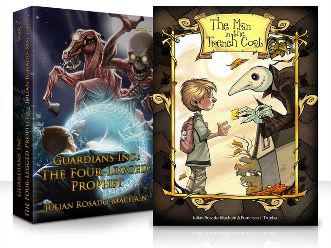 The Four Legged Prophet and The Man in The Trench coat Illustrated Books, Click to visit the Amazon Page!