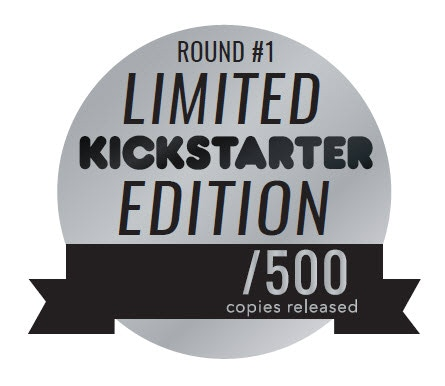 Note: The sticker will be included with your rewards but not attached.  You can place it on the box, on the rulebook or anywhere you would like!
