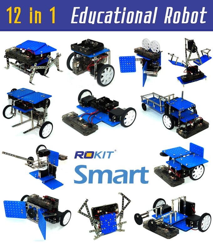 Building America S Future Stem Education Intervention Is: Educational Robot Kit: Rokit Smart (12-in-1 Robot Kit) By