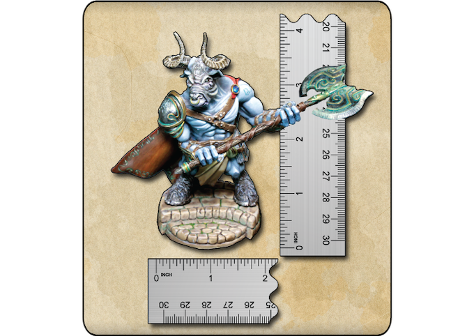 Minotaur size in inches - on a 50mm base