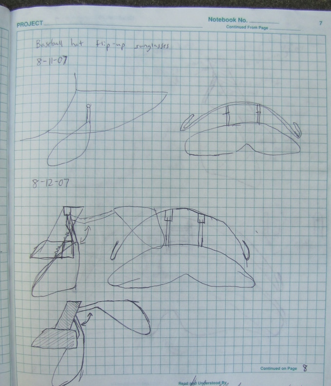 First concept sketches in 2007.