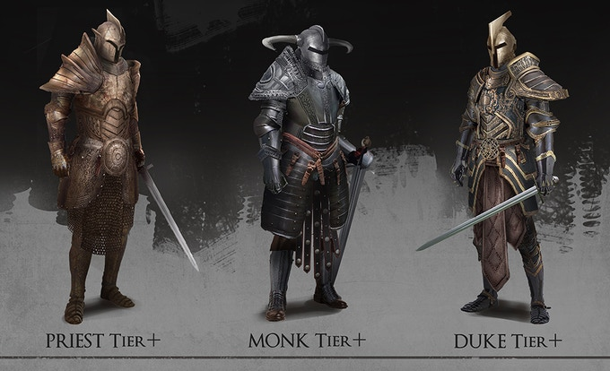 These armors will be exclusive for Kickstarter backers! Check the Priest, Month and Duke tiers!