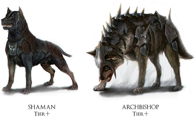 """War Dog"" and ""Wolf"", exclusive animal companion skins for Kickstarter backers!"