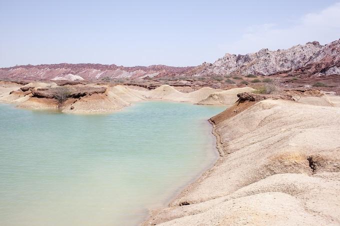 Rain water lake in Hormuz Island