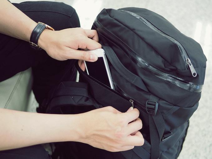 anti-theft pocket hides when worn