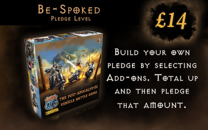 Choose your Add-ons. Work out the cost and pledge that amount...Simples!