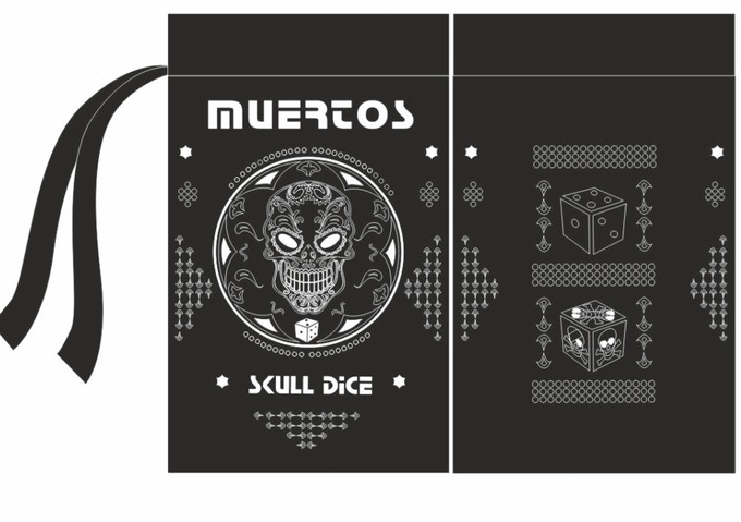 Muertos Day Of The Dead Skull Dice By Timothy Kremer