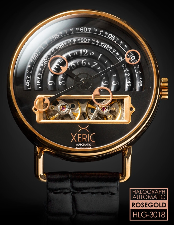 The halograph an unusual mechanical automatic watch by xeric by xeric kickstarter for Watches xeric