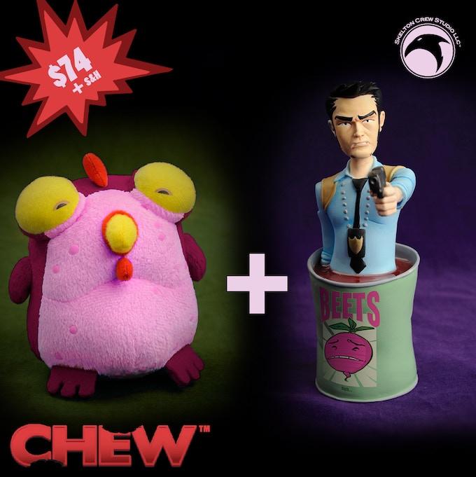 Tony Chu mini-bust and Kickstarter-exclusive Chog!