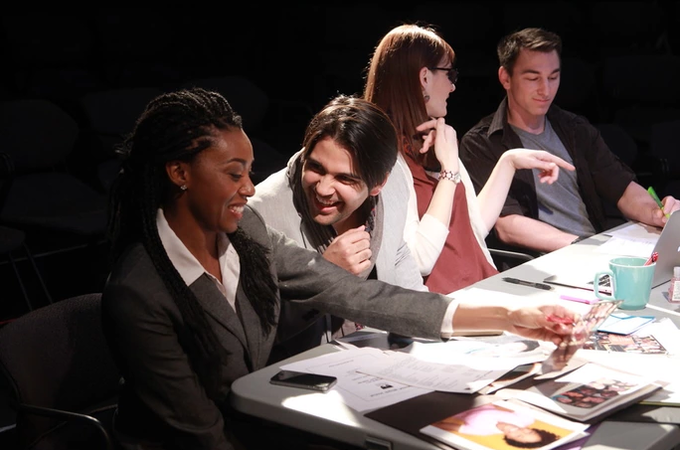 Artist Magnet fans and actors Tatiana Williams, Daniel Galo, Fiona Lakeland and Tim Delano (photo credit: Dana Ross)